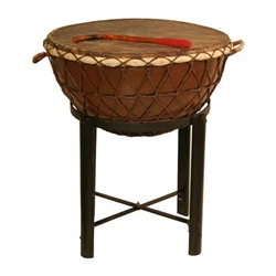 "Nagada Drum, 24"", with Stand"
