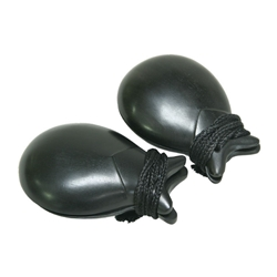 DOBANI Ebony Castanets - Black Finish 2.63 Inches - Pair