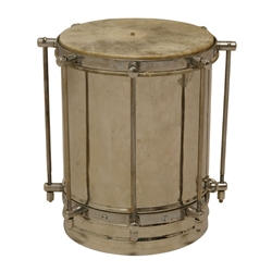 Nickel Plated Brass Cuica Drum with Goatskin Head 8 Inch