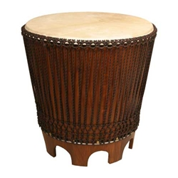 Drum Accent Table, 24 Inch with Beater