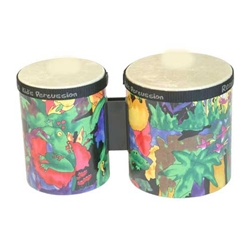 "Remo Bongos, 5"" & 6"", Rain Forest 47-KD-5400-01"