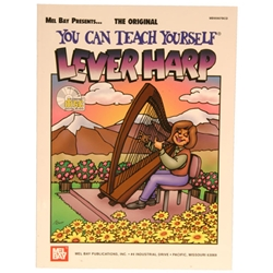 Mel Bay's You Can Teach Yourself Lever Harp Book/CD by L Riley/B Kolle