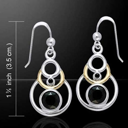Magic Concentric Circles Silver & Gold Earrings 52-MER356