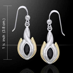Magic Oval Twist Silver & Gold Earrings 52-MER388