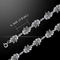 Oak Leaves Link Bracelet 52-TBL024