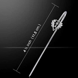 Exquisite Silver Thistle Bookmark 52-TBM004