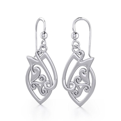 Celtic Knotwork Silver Earrings 52-TE2071