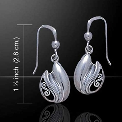 Celtic Knotwork Silver Earrings 52-TE2083