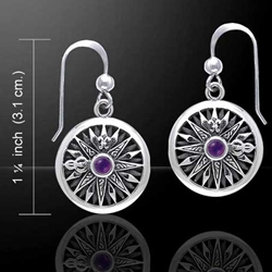 Celtic Knots Compass Silver Earrings 52-TER035