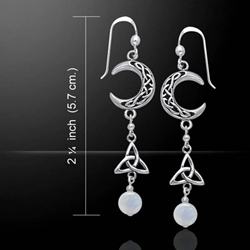 Celtic Knotwork Silver Triquetra Earrings