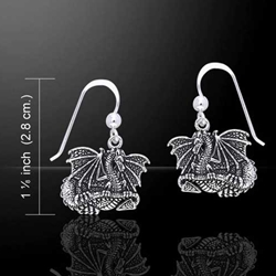 Silver Dragon Earrings 52-TER213