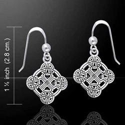 Celtic Clonmacnoise Cross Silver Earrings 52-TER470