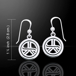 Reiki Symbol Silver Earrings 52-TER474
