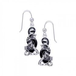 Silver Ringerike Viking Earrings 52-TER480