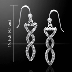 Celtic Snake Silver Earrings