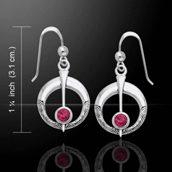 Danu Silver Thistle Earrings with Gems