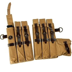 German MP 38/40 Afrika Korps Canvas Pouches - WWII Repro