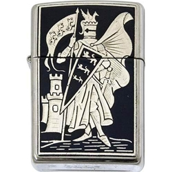 Damascene Zippo Lighter Pennant by Marto 56-M840-004