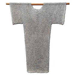 Chainmail Hauberk Shirt Riveted Steel 62-9324