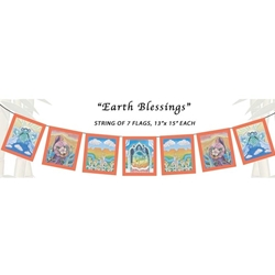 Earth Blessings Flags