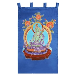 Green Tara Silk Wall Hanging 63-S3