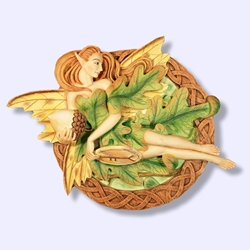 Oak Tree Fairy Wall Plaque 64-OTF