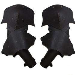 Plain Leather Articulated Arm Armor