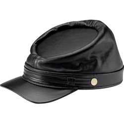 Leather Civil War Kepi 77-9210