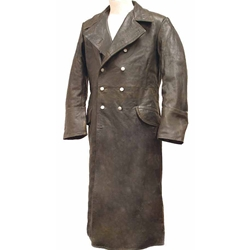 German WWII Leather Greatcoat Grey 803209