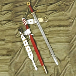 Medieval Crusader Broad Sword with Scabbard AH-3246-N