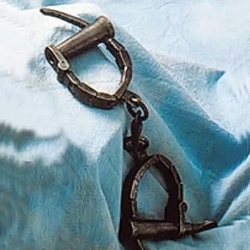 Medieval Female Handcuffs Item B AH-3859