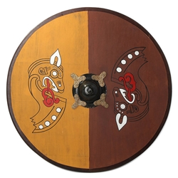 Viking Wooden Shield with Horse AH-4370