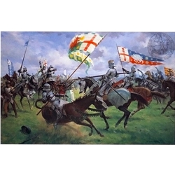 The Battle of Bosworth Medieval Art Print