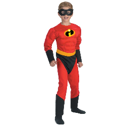 The Incredibles - Dash Muscle Child Costume 100-125317