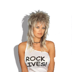 Rocker Wig (Blonde) Unisex Adult 100-125938