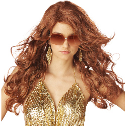 Super Sexy Super Model (Auburn) Adult Wig  100-126078
