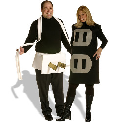 Plug & Socket Couples Set Adult Plus Costume 100-127640