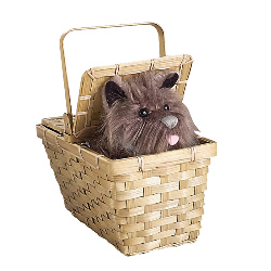 The Wizard of Oz Toto In Basket Deluxe 100-134788