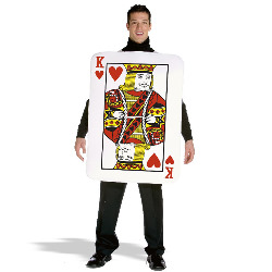 King of Hearts Deluxe Playing Card Adult Costume 100-133814