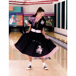 Complete Poodle Skirt Outfit Adult Plus Costume 100-135359