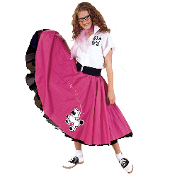 Complete Poodle Skirt Outfit Adult Plus Costume 100-135363
