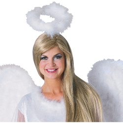 Marabou Feather Halo White 100-135859