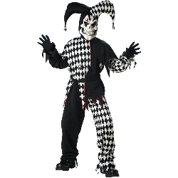 Evil Jester Child Costume 100-138936