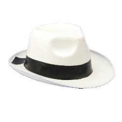 White Gangster Hat 100-140463