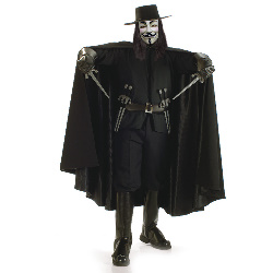 V for Vendetta Grand Heritage Collection Adult Costume 100-139179