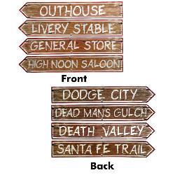 Western Sign Cutouts (4 count) 100-143964