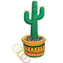 5' Inflatable Cactus Cooler / Ring Toss Game   100-141559