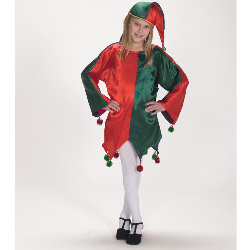Satin Jingle Elf Child Costume 100-142138