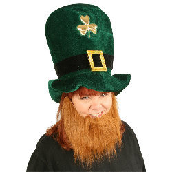 Plush Leprechaun Hat with Beard 100-147982