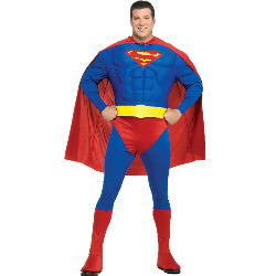 Muscle Chest Superman Adult Plus Costume 100-146600
